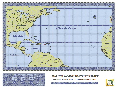 Hurricane Tracking Chart (8.5 x 11).